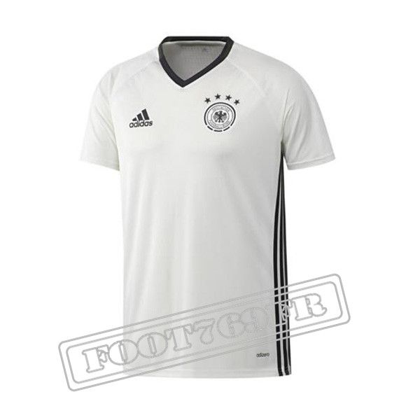 Maillot Pre-Match: Ensemble Training Allemagne Blanc 2016 2017 -Foot769Fr