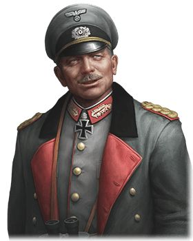 HEINZ GUDERIAN  HEINZ GUDERIAN  Commander Stats Leadership: 57Strength: 71Intelligence: 70Unit: TankA pioneer of motorized tactics before the war, Guderian became a hugely successful Panzer commander during the invasions of Poland and France. A key component of the Blitzkrieg strategy, he promoted the use of radio between crews and devised deadly shock-tactics.