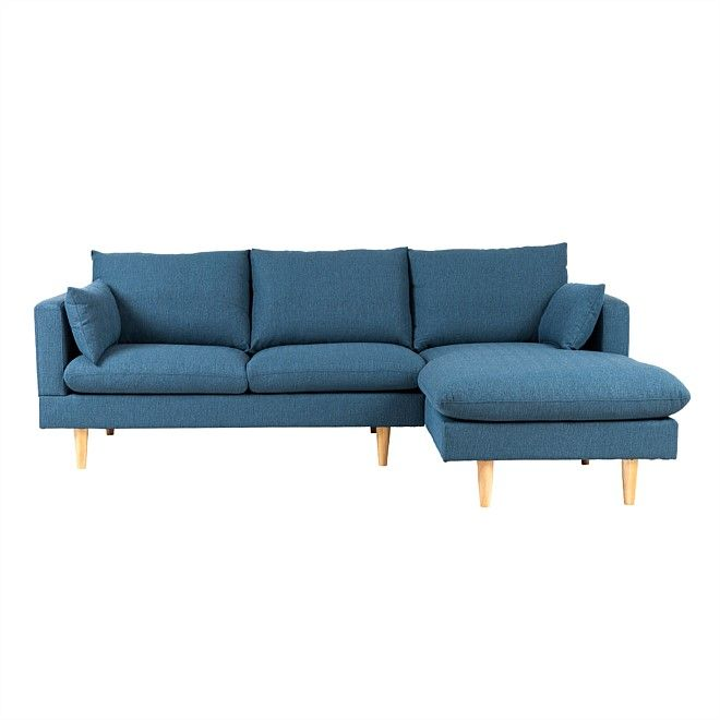 Living | Nood | Furniture | Home Decor | Homewares - sedrick sofa with right-hand chaise - blue
