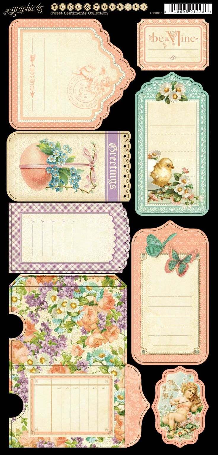 Sweet sentiments tags and pockets 1 frt 150 dpi