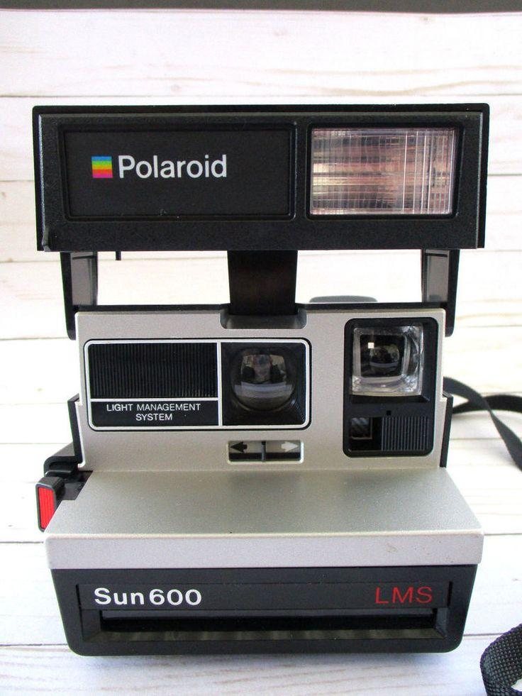 Polaroid Sun 600 Series LMS Land Instant Film Camera Sun600 Untested  #Polaroid