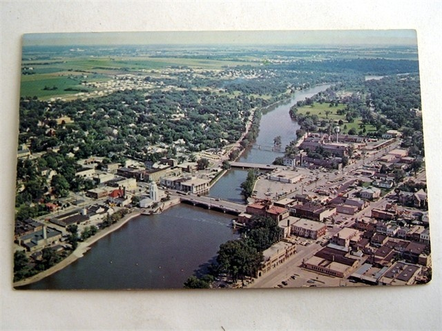 Aerial Downtown View St Charles Illinois IL Vintage Postcard | eBay