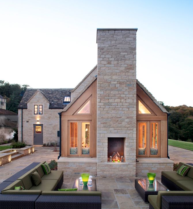 cottage kitchen and garden room addition . maximizing the light and views . Steepways Estate, Stroud Valley, Cotswolds