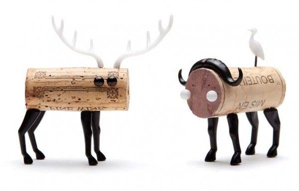 DIY cork stopper animals