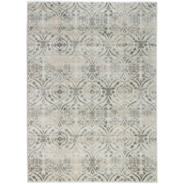 Admire Home Living Plaza Brazil Area Rug (7'10 x 10'6) (Bone 7'10 X 10'6), Ivory (Olefin, Abstract)
