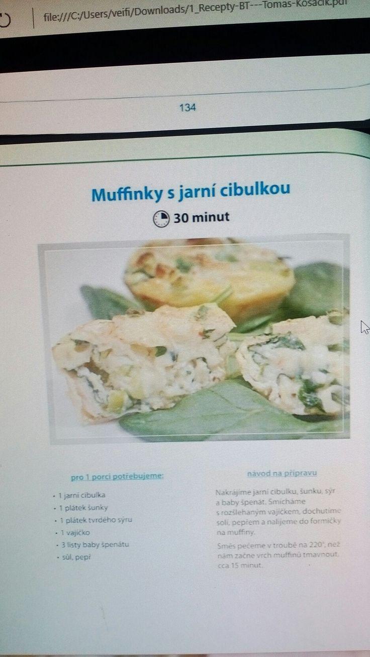 Mufinky s jarni cibulkou