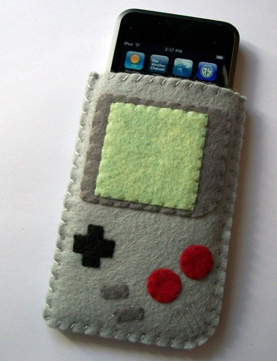 Gameboy Handheld Ipod Iphone Cell Phone Felt by TheCuriousCaseLLC