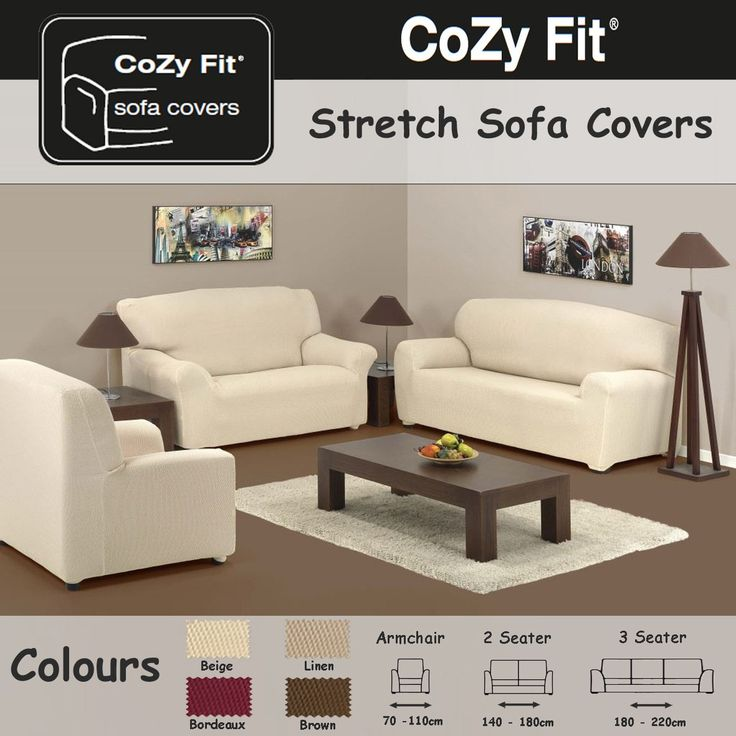 2 SEATER   Easy Stretch Elastic Fabric SOFA / SETTEE SLIP COVER Chocolate  Brown U0027Sofa