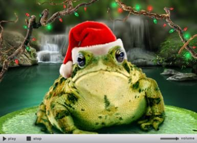 7 Awesome Sites for Electronic Christmas Greetings: Merry Mistletoad card