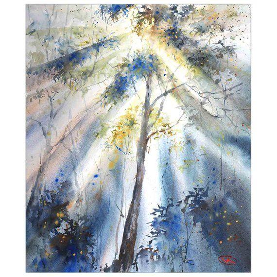 Morning Light Original Watercolor Painting Australian
