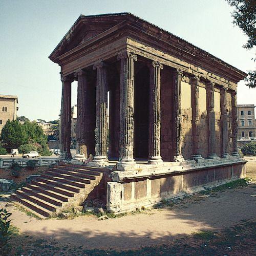 """Temple of """"Fortuna Virilis"""" (Temple of Portunus), Rome, Italy, ca. 75B.C."""