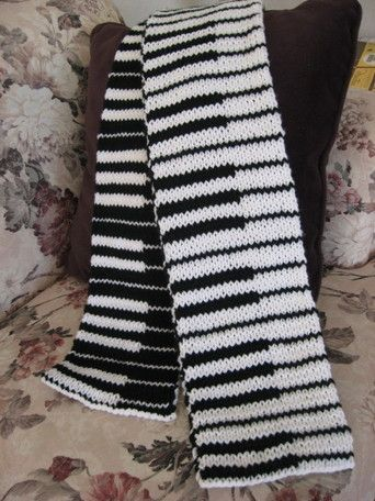 Double-Knit Piano Scarf