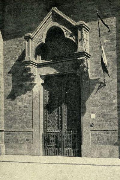 Флоренция. Портал на площади Санта Кроче / 1