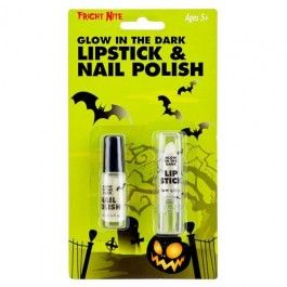 Glow In The Dark Lipstick And Nail Polish So no one can lose you in the dark! :) #poundlandhalloween