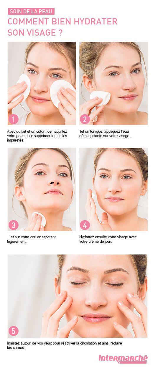 Bien hydrater votre visage en quelques gestes. #tutoriel #beauté #maquillage…