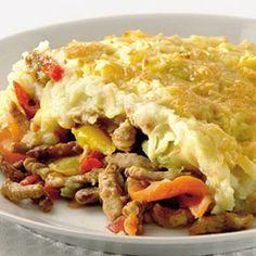 Recept - Shoarma ovenschotel met knoflookpuree - Allerhande