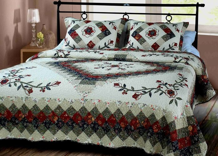 Buy Victorian Treasure Quilt Luxury Oversize King Cotton Quilts 118 X 102? At Wildorchidquilts.Net