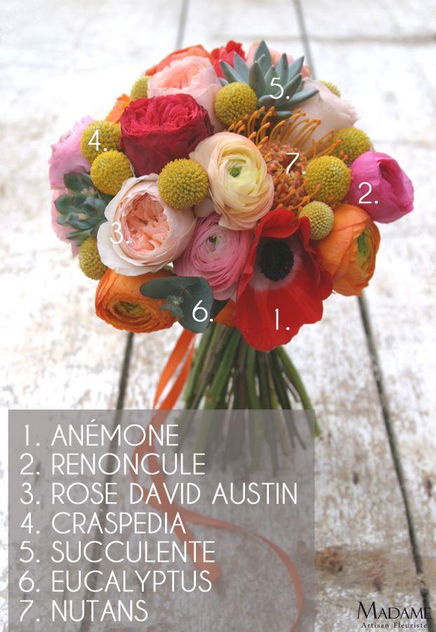 Bouquet de mariee multiolore par Madame Artisan fleuriste - La mariee aux pieds nus
