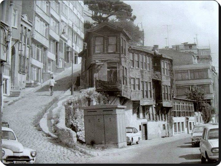 Kabatas Setüstü Istanbul 1970s..photo showcasing the beauty of the old and banality of the new