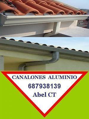 CANALONES DE ALUMINIO EN MURCIA 687938139 Cartagena Alicante Elche Almería | reformas / mantenimiento - 1/3