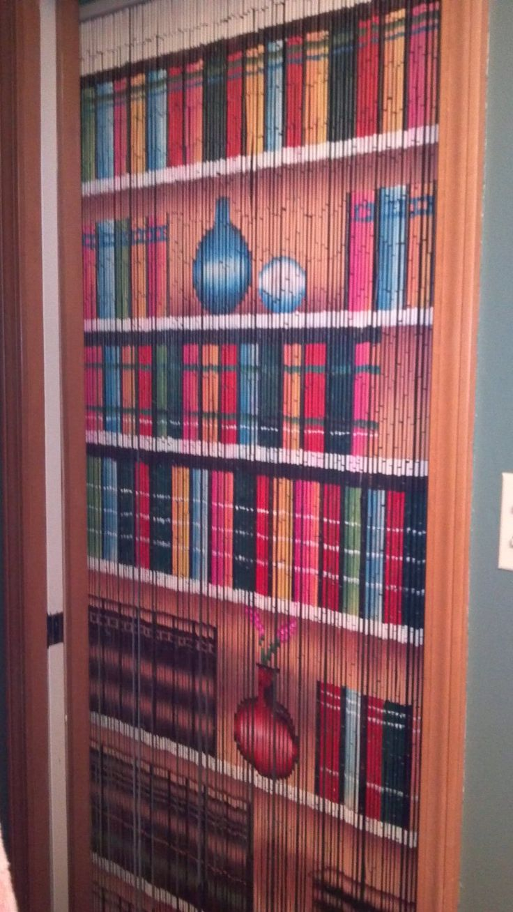 Bookcase beaded curtain 125 strands hanging for Hardware for hanging curtains