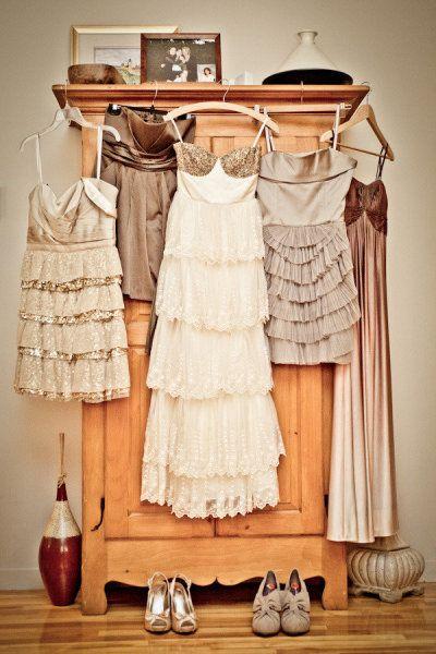 Mismatched bridesmaid dresses - love