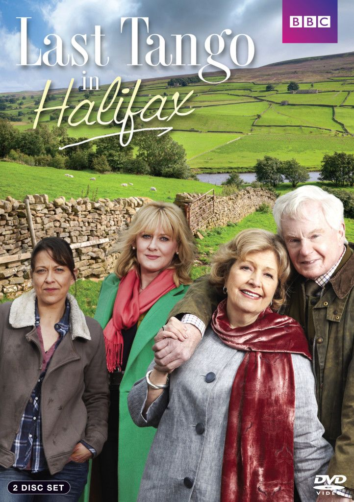'Last Tango in Halifax' (2012-) Ongoing British romantic drama series that stars Derek Jacobi and Anne Reid as widowed septuagenarians, Alan and Celia, childhood sweethearts who have been apart for 60 years. Re-united via a social networking site, they meet, fall in love and plan to marry. ~Reid and Jacobi enjoy having the chance to play out a love story between older people that is not ageist and stereotyped.