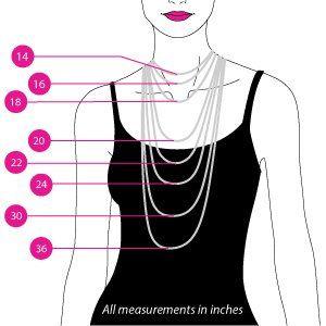 women's necklace sizing