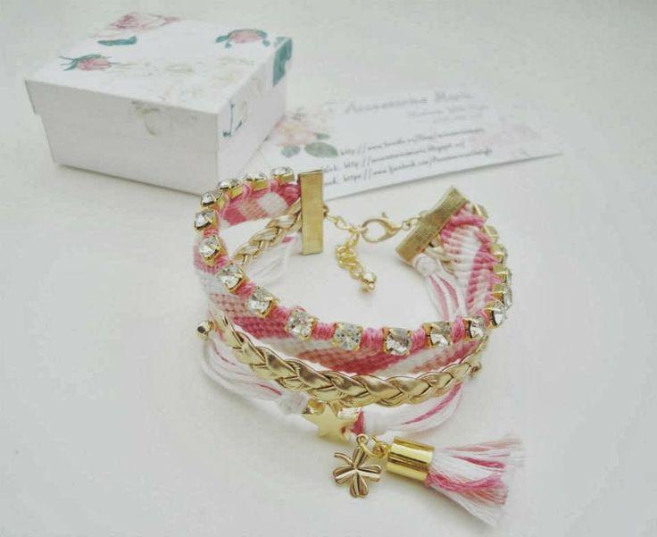Accessories Maria #Colorful #bracelets #gold #handmade #jewelry #accessories #fashion #2014 #spring #summer #love #fericire #Sibiu #friendship