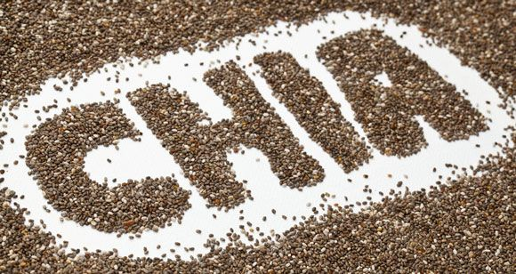The Word Chia Spelled With Chia Seeds
