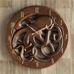 Octopus Wall Clock ♣️Fosterginger.Pinterest.Com♠️ More Pins Like This One At FOSTERGINGER @ PINTEREST No Pin LimitsFollow Me on Instagram @  FOSTERGINGER75 and ART_TEXAS