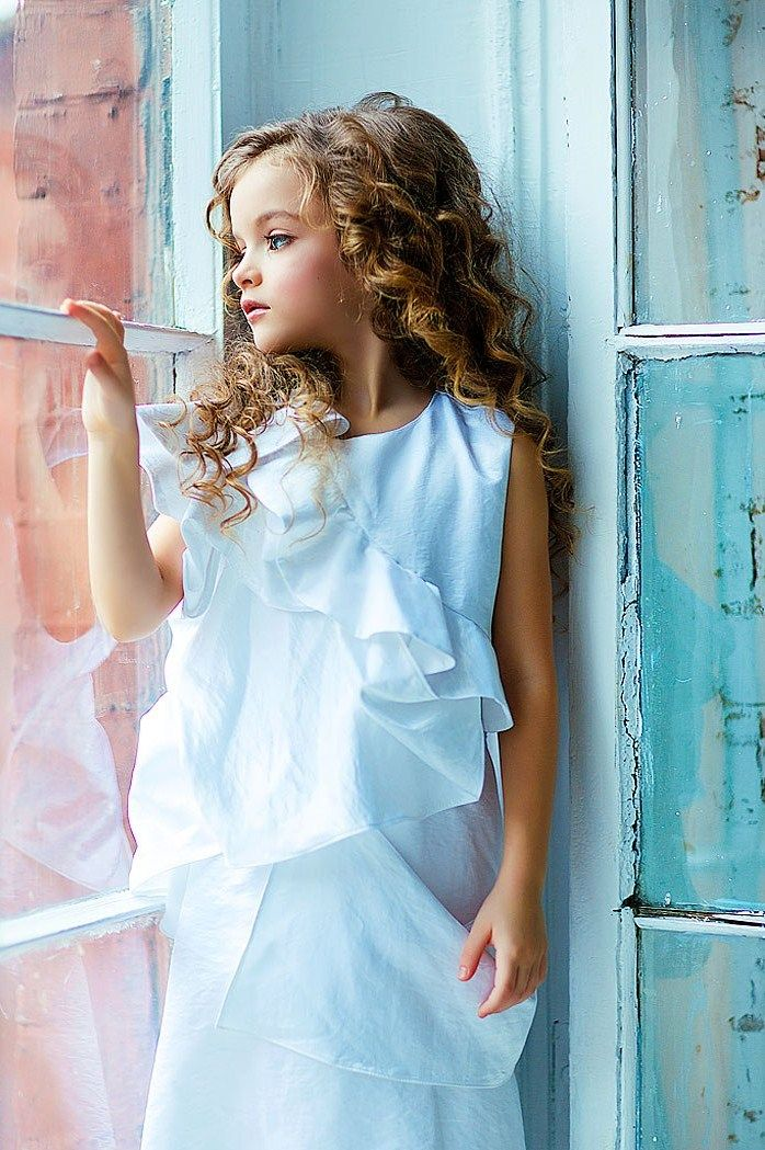 Russian child model Milana Kurnikova.