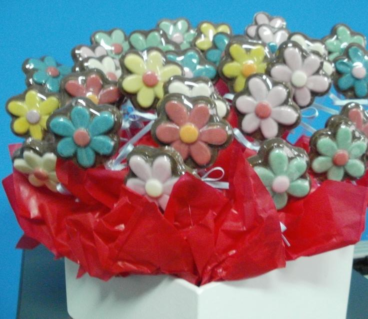 Flores de chocolate como regalo de Primavera