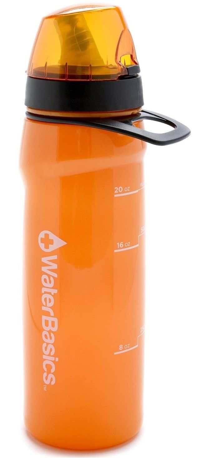 WaterBasics 67258 RED Line Filtered Water Bottle, 20 Oz