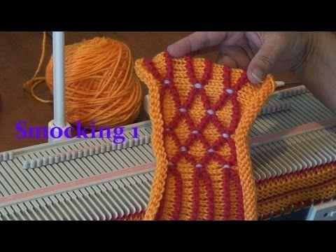 Machine Knit Smocking 1a - YouTube