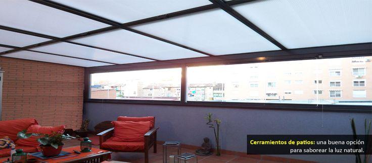 46 best enclosing areas images on pinterest decks home ideas and glass ceiling - Cerramientos para patios ...