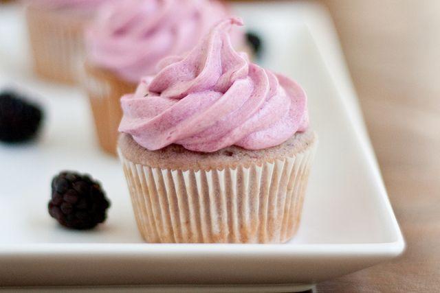 Blackberry Cupcakes by foodiebride, via Flickr