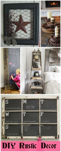 DIY Rustic Decor • Ideas and tutorials!