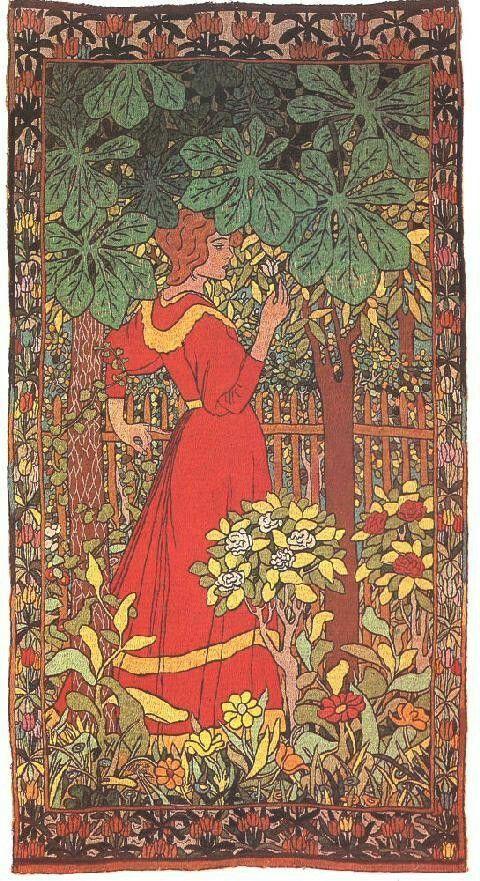 Young woman with rose, József Rippl-Rónai
