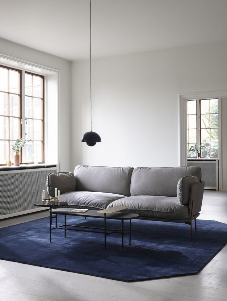 Beautiful contemporary-modern sofa that's visually light + airy but also welcoming. Cloud by Italian designer Luca Nichetto. With steel legs. For Danish design brand &tradition.