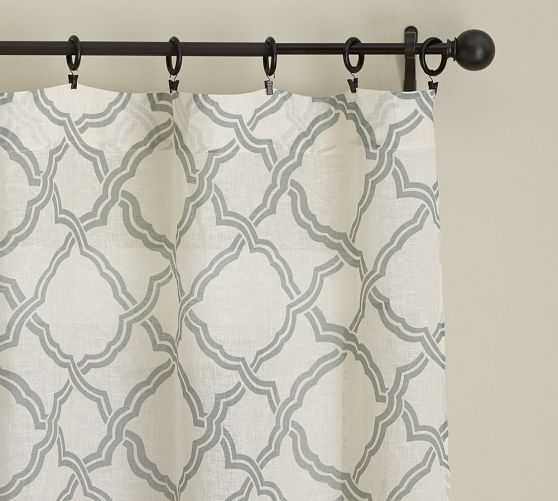 You could get these: Kendra Trellis Sheer Drape | Pottery Barn $58 - $84