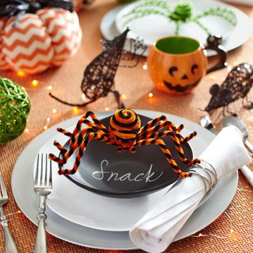 whimsical halloween place settings from pier1com - Halloween Place Settings
