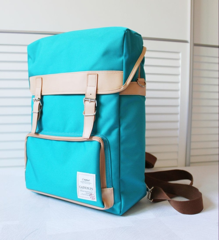 GAJHON.PS Color Backpack (Turquoise). $68.20, via Etsy.