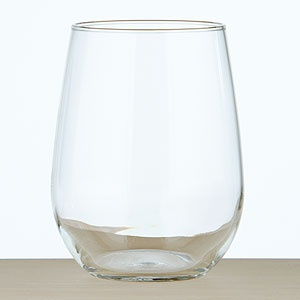 Set of 4 Stemless White Wine Glasses at World Market - The stemless aspect offers versatility!