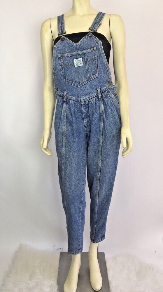 cc1fd89f5 Vintage 80s 90s GUESS Denim Pleated High Waisted Jean Overalls Size 1  #GUESS #casual