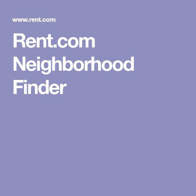 Rent.com Neighborhood Finder