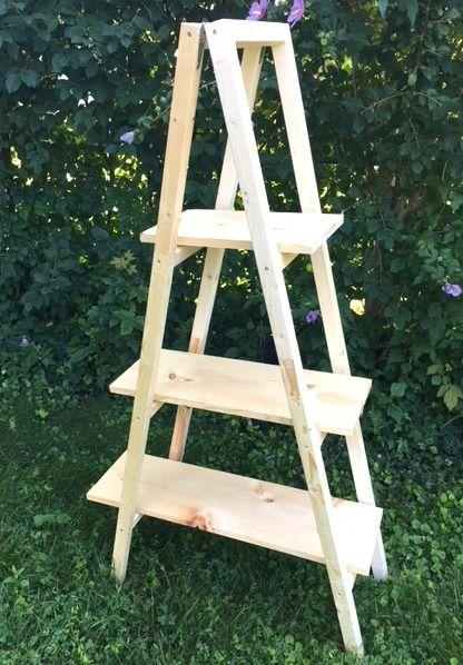 Machen Sie eine Leiter Pflanze Stand – Easy DIY – Nur 20 $ für Holz   – DIY i wanna make