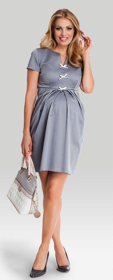Одежда для беременных, Princess grey платье с V-образным вырезом декольте для беременных