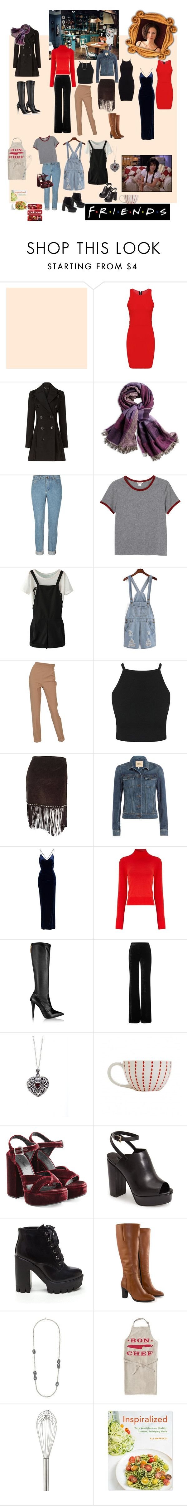 """""""Monica Geller"""" by brianna-marie-fulce ❤ liked on Polyvore featuring Burberry, Chico's, Monki, Hermès, Moschino, Paige Denim, NLY Eve, Osman, Giuseppe Zanotti and Emilio Pucci"""