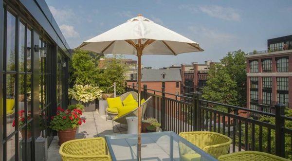 Die besten 25 Sonnenschirm balkon Ideen auf Pinterest